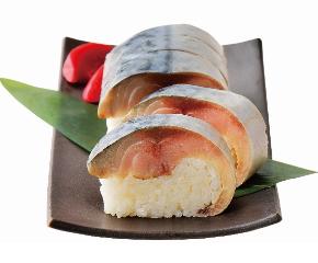 〈八戸ニューシティホテル 魚菜工房「七重」〉虎鯖棒すし
