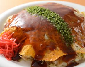 〈のんきや〉広島焼(豚肉入)