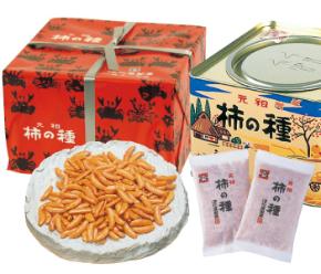 〈浪花屋製菓〉K10柿の種進物缶