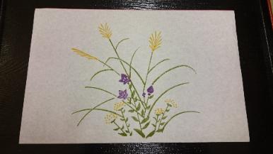 〈ぴょんぴょん堂〉京懐紙 秋草(3色摺)