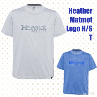 【メンズ】Heather Marmot Logo H/S T